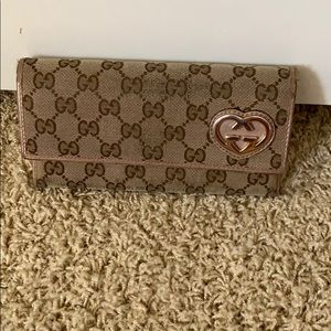 AUTH Gucci fold over wallet